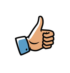 Thumbs up symbol cool yes like icon vector