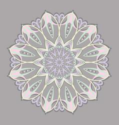 vintage pastel color circular pattern art symbol vector image