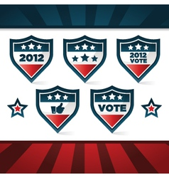 Voting patriotic shields vector