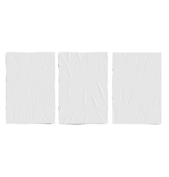 white empty badly glued paper texture wet vector image