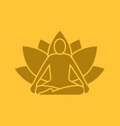 Yoga position glyph color icon vector