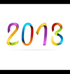 2013 rainbow design vector image vector image
