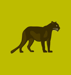 in flat style panther vector image vector image
