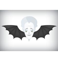 Vampire airlines regular flights on Halloween vector image vector image