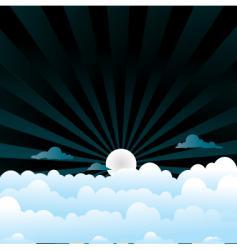 evening scene vector image
