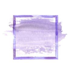 purple watercolor grunge frame vector image vector image