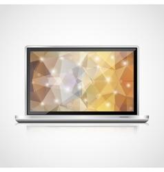 realistic open laptop vector image
