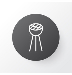 bbq icon symbol premium quality isolated grill vector image