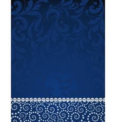 floral blue pattern vector image vector image