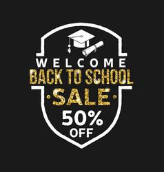 super back to school sale design vector image