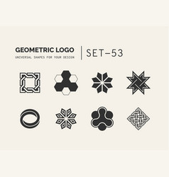 universal shapes for your design vector image vector image