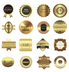 Golden labels set vector image vector image