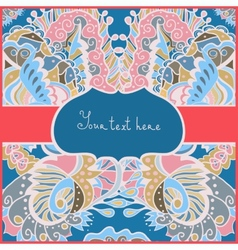 Greeting ornamental card for life events vector image vector image