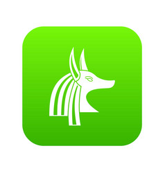 ancient egyptian god anubis icon digital green vector image