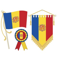andorra flags vector image