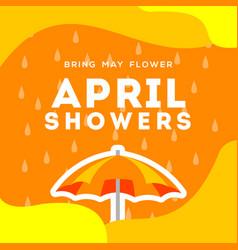 April showers design for banner or background vector