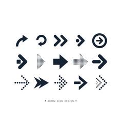 Arrow icon collection design vector