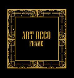 Art deco retro frame vector