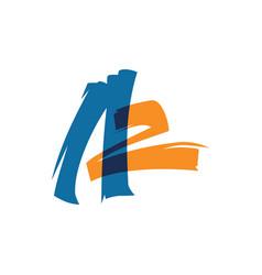 az a2 letter logo lettermark sign vector image