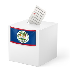 Ballot box with voting paper Belize vector