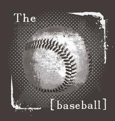 Baseball the ball vector