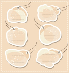 Blank tags set vector