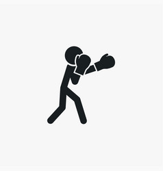 boxer icon simple sportsman element boxing vector image