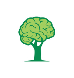 brain tree logo design icon vector image