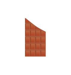 breaking chocolate tile sweet-stuff vector image