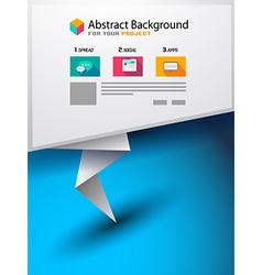 Brochure template for your business project Flyer vector