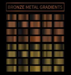 Bronze copper metal gradient colorful vector