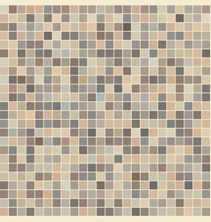 Brown ceramic tile mosaic vector
