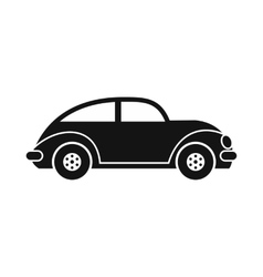 Car icon black image vector