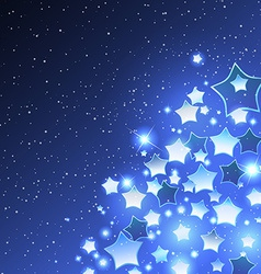 Christmas Background with Stylized Star vector image