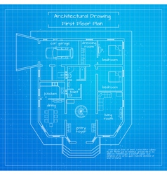 city building blueprint vector image
