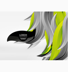 colorful wave lines in white and grey 3d vector image