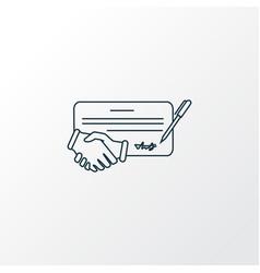 contract icon line symbol premium quality vector image
