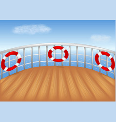 Cruise ship deck vector