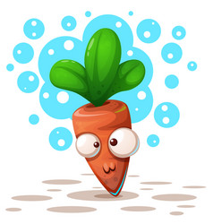 cute ctazy carrot - cartoon vector image