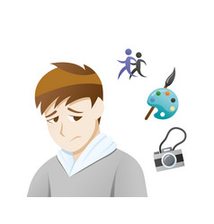 Depression symptoms loss interest vector