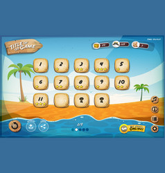 Desert island game user interface design for vector