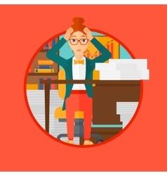 Despair woman espair sitting in office vector