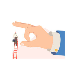 Dismissal business betrayal huge hand trying vector