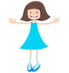 Elementary or teen age cartoon girl vector