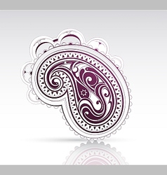 Ethnic ornament as design element vector image