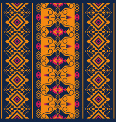 ethnic seamless pattern tribal kilim aztec vector image