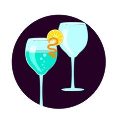 Exotic cocktail social media icon vector