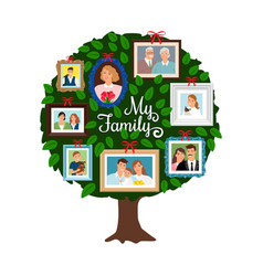 Family green tree vector