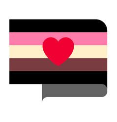 Fat fetish pride flag vector