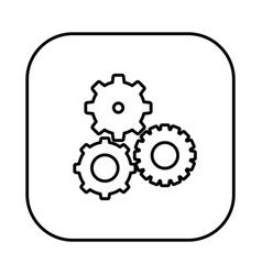 Figure symbol gears icon vector